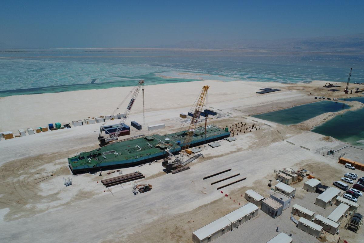 גרנד אופק - פרויקטים - הקמת דוברה בים המלח
